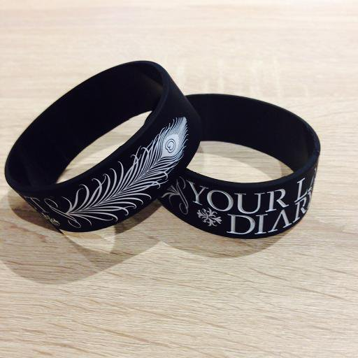 YOUR LAST DIARY / LOGO RUBBER BAND Designed by NOHEROES (BlackxWhite)