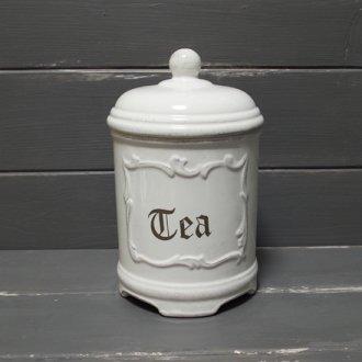アンティーク風キャニスター  -Tea お茶-