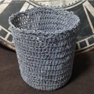 ヴィンテージ風かぎ針編みダストボックス