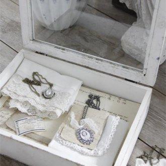 アンティーク風ウッドボックス  White patina