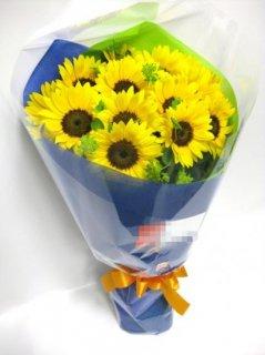 ひまわり18本の花束