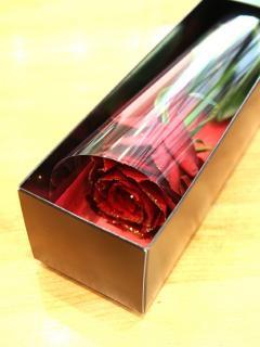 <予約商品>赤ラメ バラ