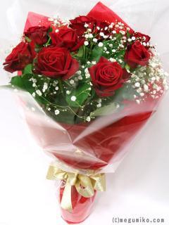 <予約商品>10本のバラの花束 A