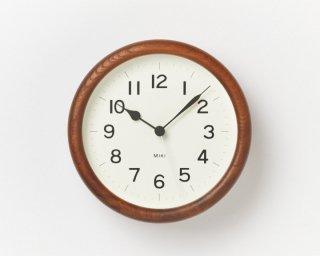 MIKI ケヤキの時計 ブラウン