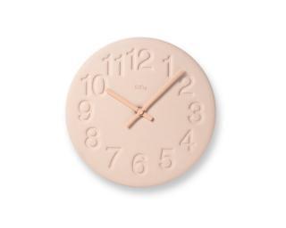 珪藻土の時計/ピンク