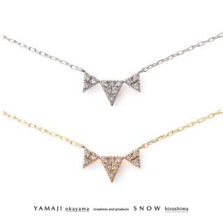 『TOROIS/トロア』K10ダイヤモンドネックレス