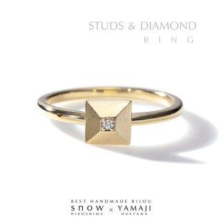 『STUDS&DIAMOND/スタッズ&ダイヤモンド』リング