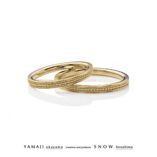 『MILCROWN/ミルクラウン』K18イエローゴールド マリッジリング(結婚指輪)