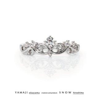 『花冠のゆびわ/FLOWER OF TIARA』プラチナダイヤモンドリング(婚約指輪)