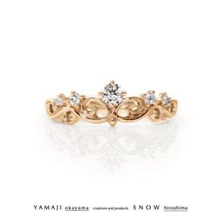 『花冠のゆびわ/FLOWER OF TIARA』K18ピンクゴールド エンゲージリング(婚約指輪)