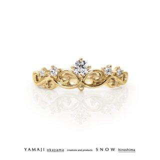 『花冠のゆびわ/FLOWER OF TIARA』K18イエローゴールド エンゲージリング(婚約指輪)