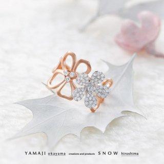 【NEW YEAR close-up】『SNOW FLAKE AMARYLLIS/スノウフレークアマリリス』K18PG/WGリング