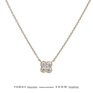 『WHITE VIOLA/ホワイト ビオラ-Msize-』K18ゴールド ダイヤモンドネックレス