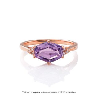 <img class='new_mark_img1' src='https://img.shop-pro.jp/img/new/icons5.gif' style='border:none;display:inline;margin:0px;padding:0px;width:auto;' />『LAVENDER AMETHYST/ラベンダーアメジスト』K18ピンクゴールド リング