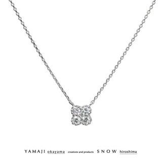 『WHITE VIOLA/ホワイト ビオラ-Ssize-』K18ゴールド ダイヤモンドネックレス