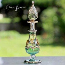 エジプト香水瓶 グリーン