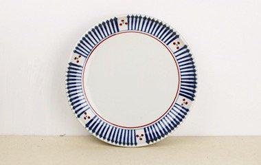 梅山窯,径約18.3cm×高約3.3cm,磁器