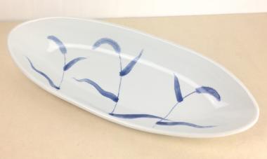陶房風,縦39.5cm×横15.5cm×高4cm,磁器