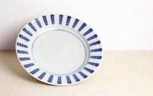 砥部焼◆7寸リム皿■よろけ紋