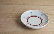 砥部焼◆切立丸皿(4.6寸)■タンポポ