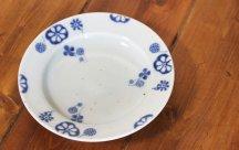 砥部焼◆6寸リム皿■れんこん