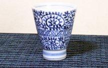 砥部焼◆蛸唐草のカップ(高台)
