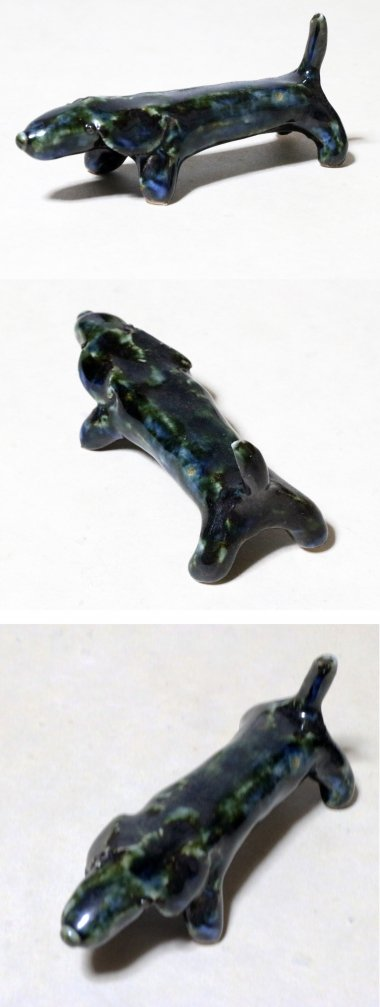 雲石窯,体長約10�×高さ約4.5�(尻尾込),磁器