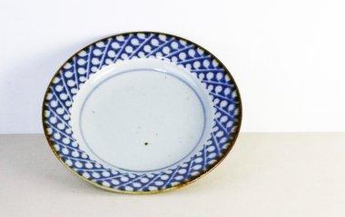 砥部焼◆リム皿【すずらん】(7寸)