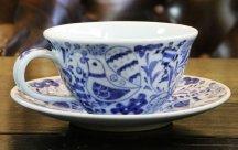 砥部焼◆とりさん柄の スープカップ&ソーサ