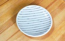 砥部焼◆玉線皿 (線いっぱい)