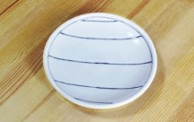 砥部焼◆玉線皿 (ライン)