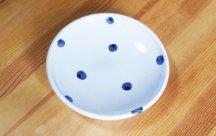 砥部焼◆玉線皿 (点紋)
