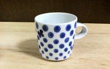 砥部焼◆ マグカップ (ちょうドット)