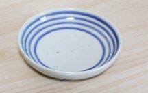 砥部焼◆4寸丸皿 独楽