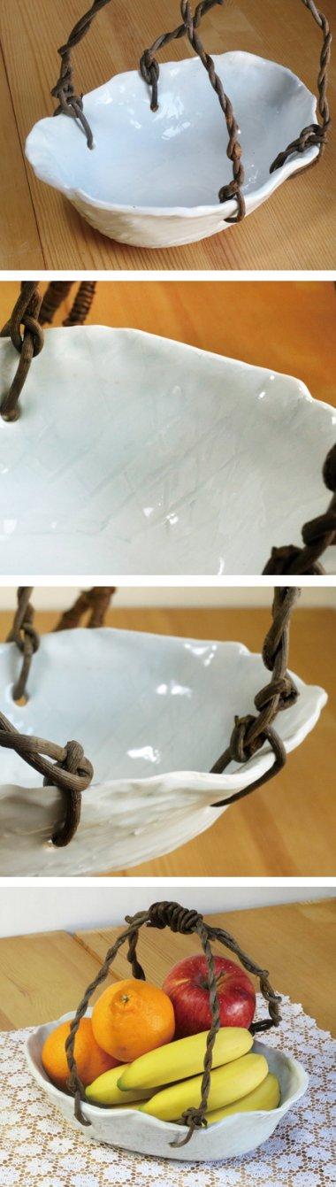 東吉窯,約27.5cm×約19cm×高約7cm(蔓手含む高さ約23.cm),磁器