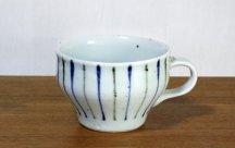 砥部焼スープカップ■呉須鉄線