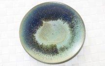 丹波立杭焼  6寸皿 ペールグリーン&ブルー