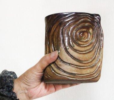 千代市陶房,約12.5cm×7cm×高約15cm,陶器