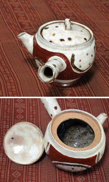 信楽焼,外口径約9cm(内口径7cm)×全高(蓋込)約11cm,陶器