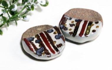 信楽焼,約4.5cm×約4cm,陶器