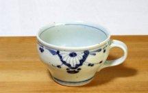 砥部焼スープカップ■菊紋