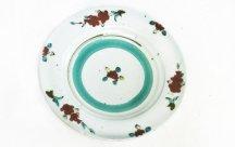 砥部焼◆7寸リム皿 釉裏紅...B花