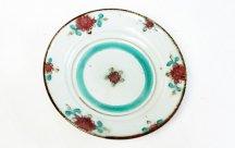 砥部焼◆7寸リム皿 釉裏紅...E花