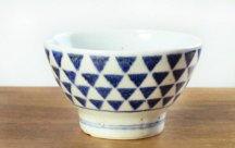 砥部焼◆くらわんか茶碗 三角