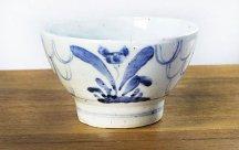 砥部焼◆くらわんか茶碗 呉須花