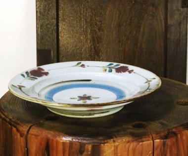 中田窯,径約22cm×高約3.8cm,磁器 鉄入