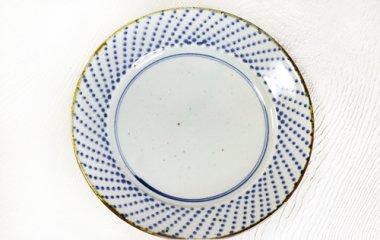 中田窯,径約25cm×高さ約3.8cm,磁器(荒土・鉄入)