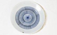 砥部焼◆8寸リム皿■刷毛目