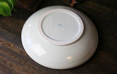 山中窯,外径30cm×高6.5cm,磁器