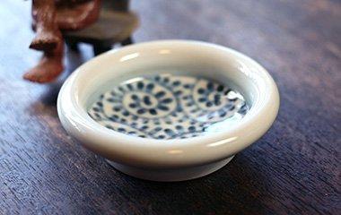 山中窯,外径11.5cm×高さ3.5cm,磁器